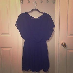 Lush Dresses & Skirts - Cute navy blue dress