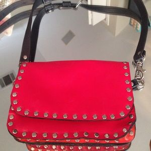 All leather studded cross body