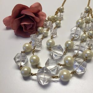 Kate Spade Pearl & Cube Layered Statement Necklace