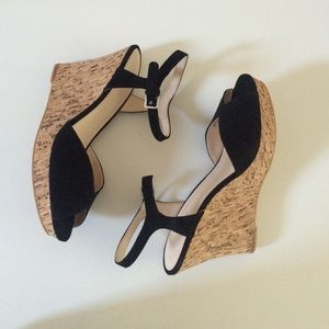 Nine West Shoes - Nine West Black Wedge, Cork Heel