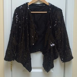 Ark & Co Jackets & Blazers - Black Sequin Blazer