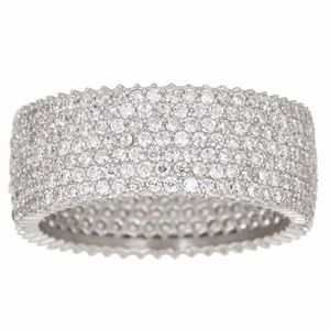 Jewelry - Cubic Zirconia Micro Pave Eternity Band