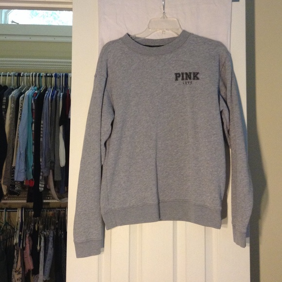 64% off PINK Victoria's Secret Sweaters - VS LOVE PINK Grey ...