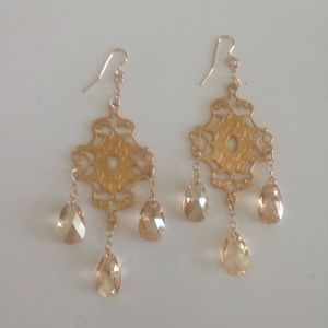 Heather Gardner Jewelry - Heather Gardner Gold Crystal Earrings. NWOT