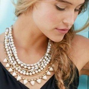 Stella & Dot Stone Sutton Necklace in White