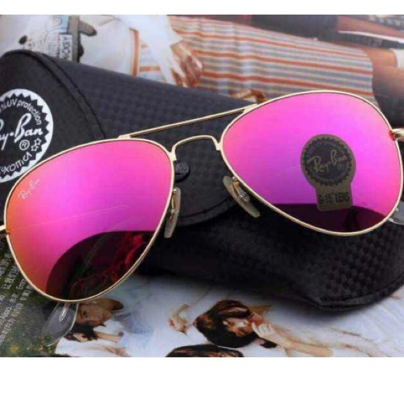 752ba44004381 Hot pink ray ban aviator sunglasses