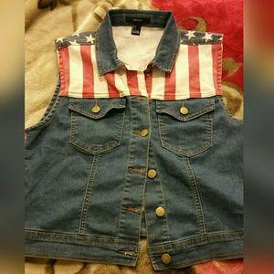 Very cute denim Jean vest jacket