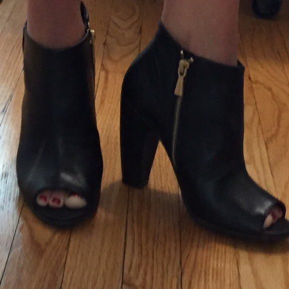 2f76d3c278f9e8 ABOUND Shoes - ABOUND Black Peep Toe Booties