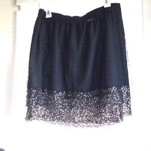 Dresses & Skirts - Black & Gold Sequins tulle / net skirt! NYE