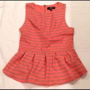 Peach striped petal top