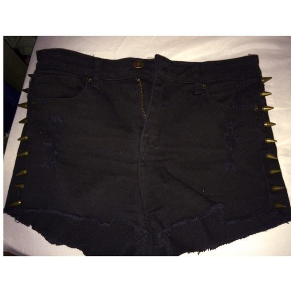 40 off forever 21 denim high waisted black shorts with