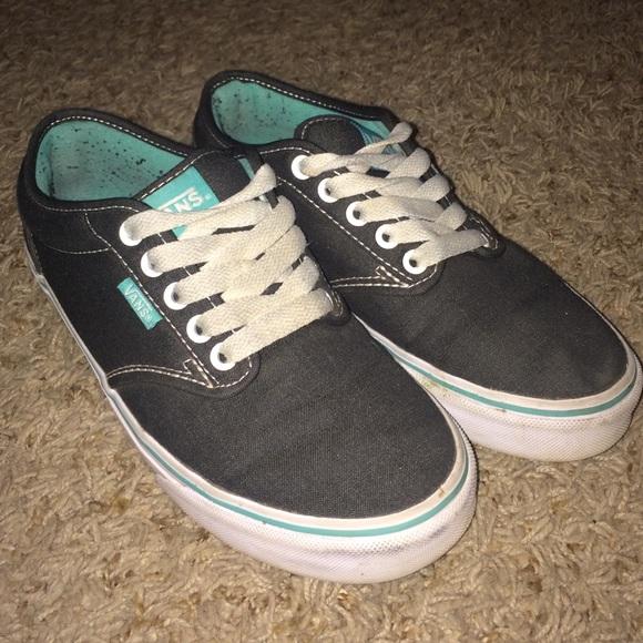 Vans Shoes   Grey Teal Vans   Poshmark