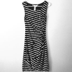 Fitted B&W striped dress