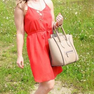 Madewell Dresses & Skirts - Silk orange dress from madewell!