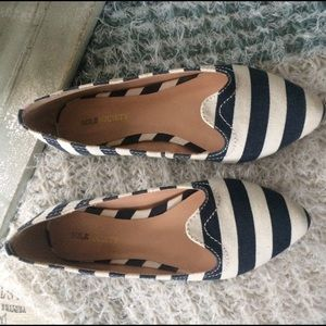 Sole Society Shoes - Sole society stripe flats