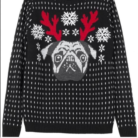 d1a95b6efe62 H&M Sweaters | Pug Christmas Sweater | Poshmark