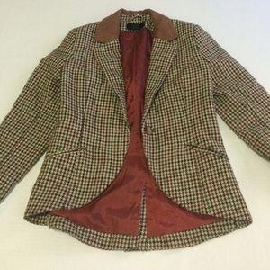 H&M Jackets & Blazers - Brown checkered blazer