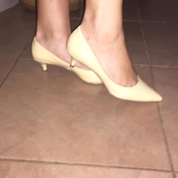 64% off Nine West Shoes - Nude/Tan Pointed Nine West Short Kitten ...