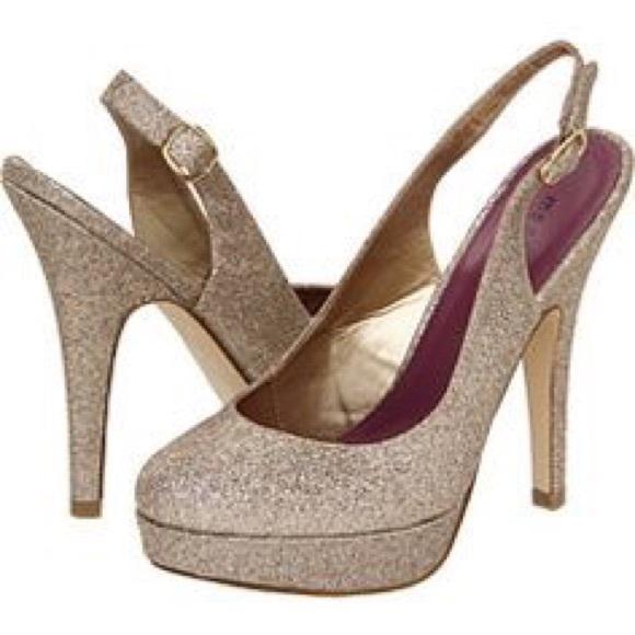 436d38c5c1 Madden Girl Shoes   Sookie Glitter Platform Slingback Heel   Poshmark