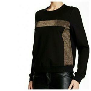 Paige Jeans Tops - Paige Premium || Black Metallic Sweatshirt