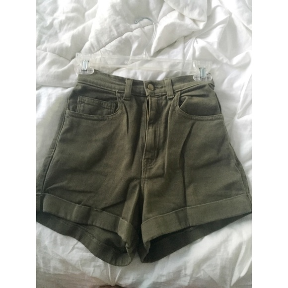 74% off American Apparel Pants - American Apparel Olive Green High ...