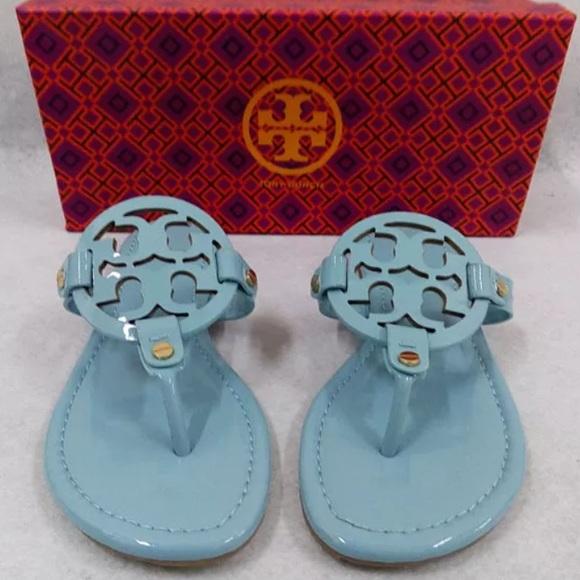 94a09cd6078bbf Tory burch light blue miller sandals 7.5