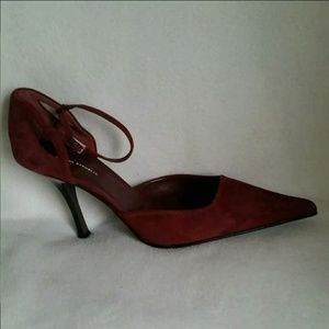 9.5 new BANANA REPUBLIC Burgundy Suede heels shoes