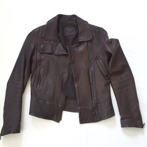 All Saints genuine leather jacket