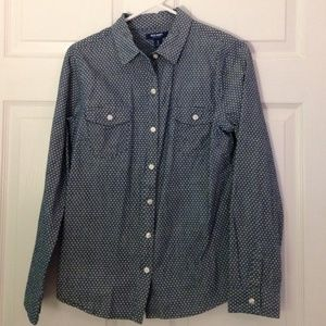 Old navy polka dot button up