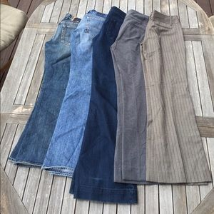 5 Pairs Jeans Pants Size 4 Norma Kamali Lucky