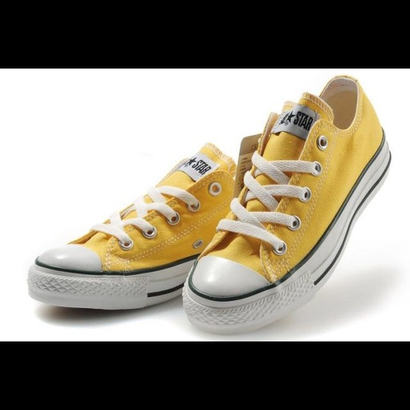 converse shoes yellow