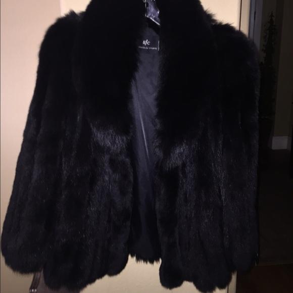 f35a26ec721b4 SOLD New w tags Saga Black Fox Fur Coat Jacket