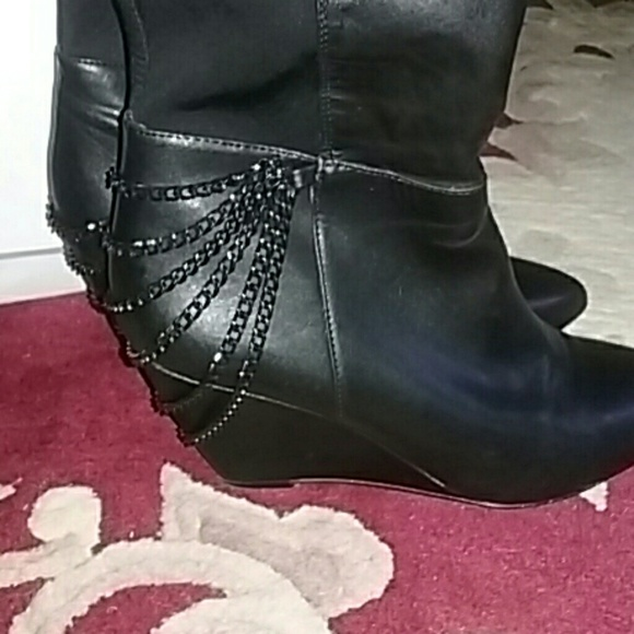 fergie fergie shaft wedge boots from s