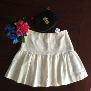J. Crew Jacquard flare skirt