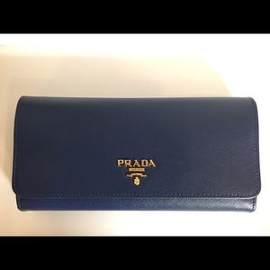Prada Wallet Dark Blue