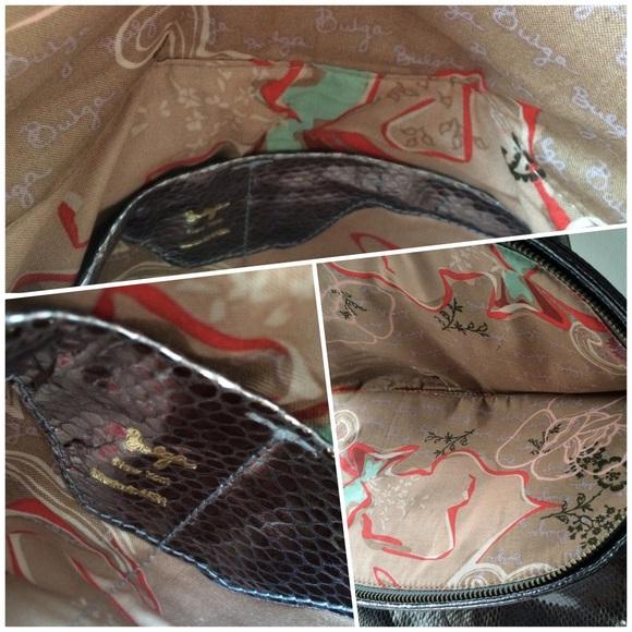 Bulga Bags - Bulga Metallic Leather 'Garcon' Large Shoulder Bag