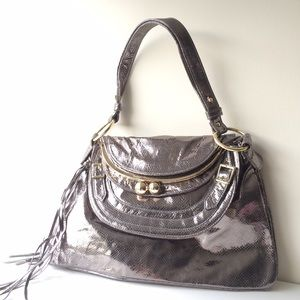 Bulga Bags - Bulga Metallic Leather 'Garcon' Large Shoulder Bag