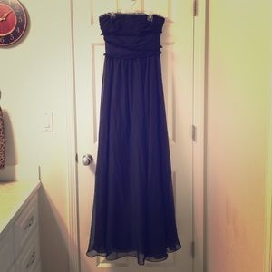 Monique Lhuillier Dresses & Skirts - Dark navy GORGEOUS gown! ON SALE!💥💥