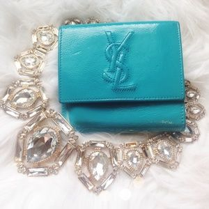 Authentic YSL Turquoise Wallet