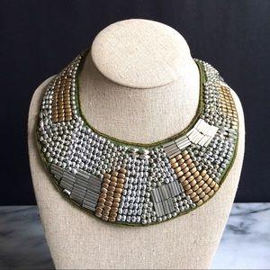 Boho Chic Beaded Collar Necklace