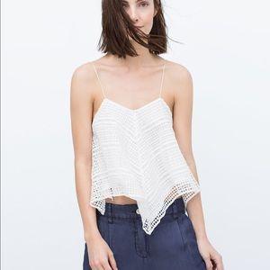 1c0f0f550ba93 Zara Tops - Zara crochet tank top