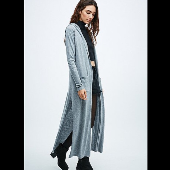 69% off Urban Outfitters Sweaters - Ecote Anastasia Grey Hooded ...