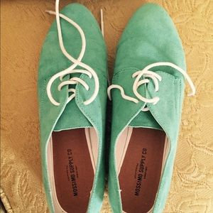 Target Brand - Green Leather Oxfords