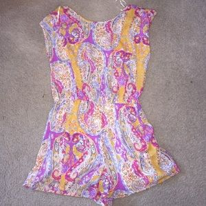 Other - Brand New- cute colorful, paisley short romper