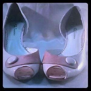 """2 Inch """"Jeanette"""" Peep Toe Heels"""