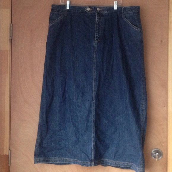 eddie bauer denim skirt from tonya s closet on poshmark