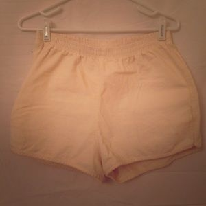 American Apparel Off-White High Waisted Shorts