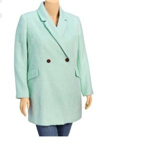 New Old Navy Womens Plus Wool-Blend Overcoat 2X