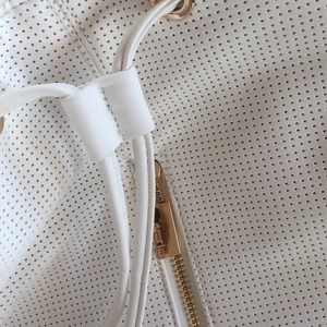 Deux Lux Bags - Deux Lux White Perforated Faux Leather Backpack