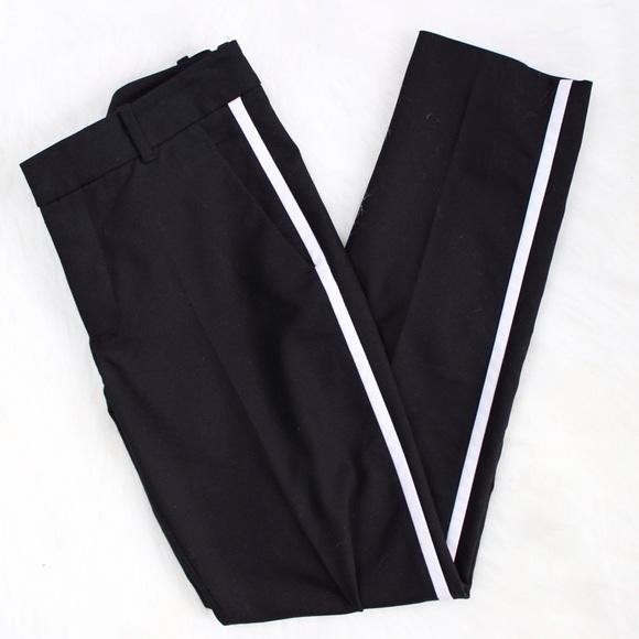 77 Off Zara Pants Zara Side Stripe Black Trousers